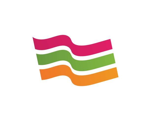 Flag Template Logo und Symbol Vektoren