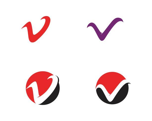 V-Geschäftslogo und Symbolschablonenvektor vektor
