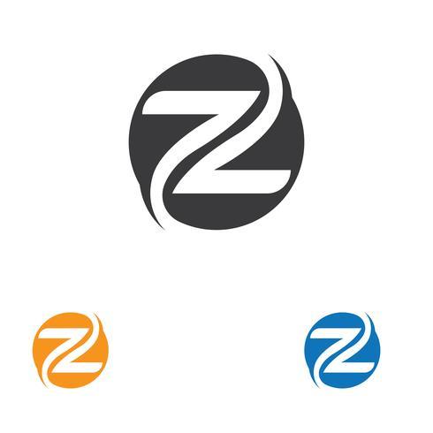 Z-Buchstabe Logo Template-Vektorikonenillustration vektor
