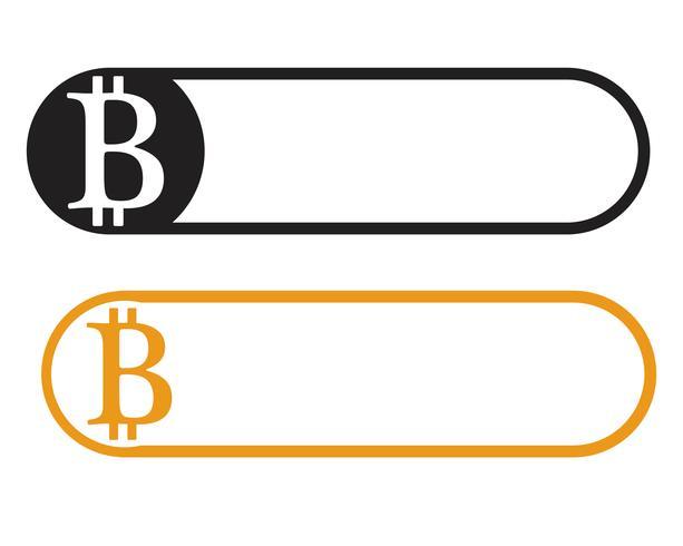 Bitcoin Logo Vektor Vorlage