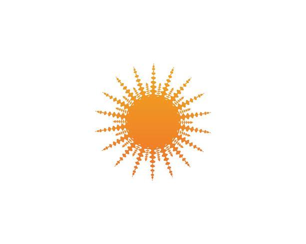 Sollogo och symbolvektor vektor