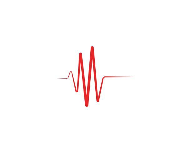 Herzschlag-Wellenlogolinie Vektor