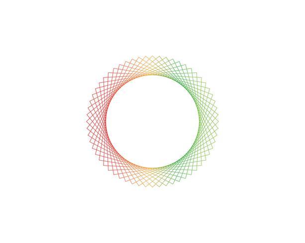 Cirkellinjesignalvektorer vektor