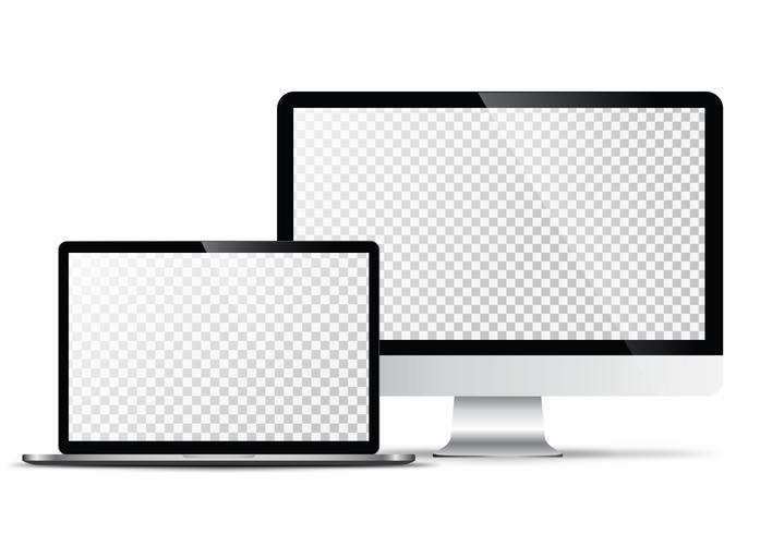 Elektronisk vektormodell Modern teknik, smartphones, tabletter, datorer och bärbara datorer vektor