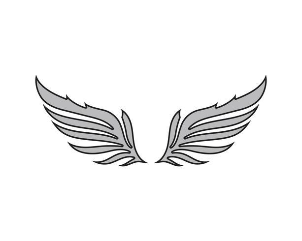 Wing Falcon Bird logo vektor