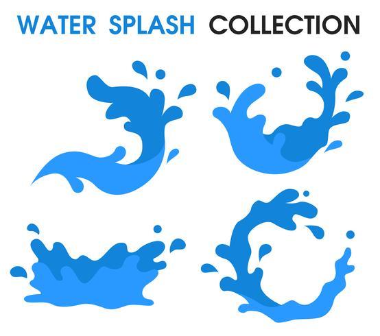 Water Splash icon Enkel tecknad stil. vektor