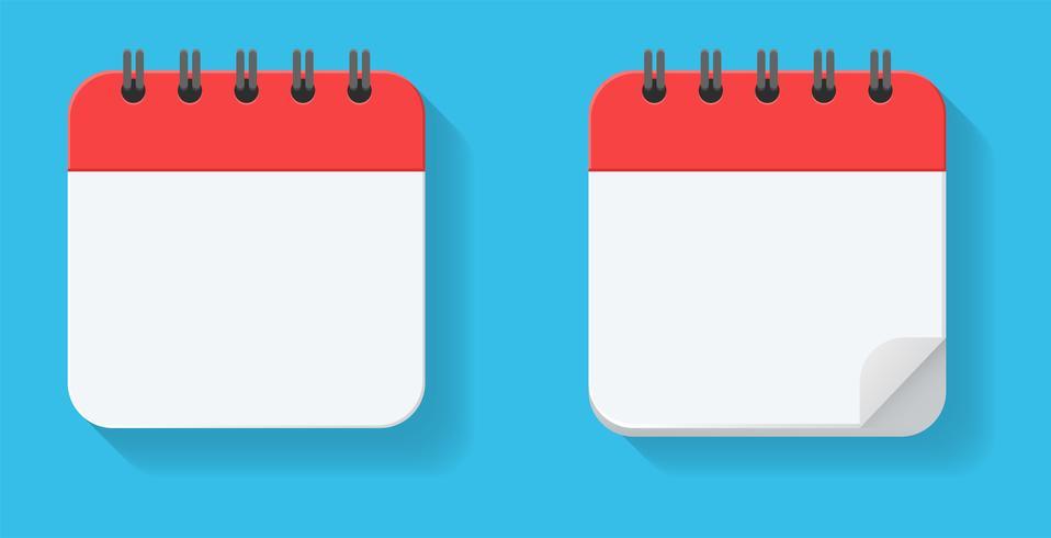 Tomma replika i kalendern. För mötets möten och viktiga datum för året. vektor