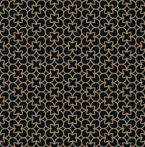 Intersecting böjda eleganta fina linjer och rullar som bildar abstrakt blommig prydnad. Seamless mönster för bakgrund, tapeter, textilutskrift, förpackning, omslag, etc. vektor