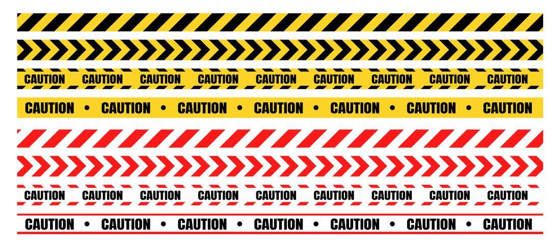 Gefährliche Warnbänder müssen bau- und kriminalitätsgefährdet sein. vektor