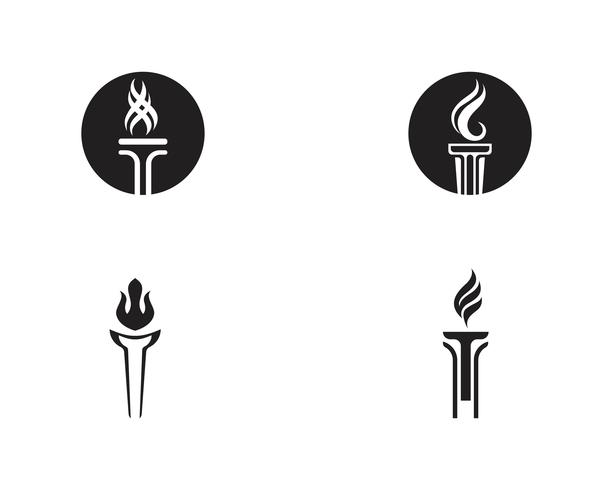 Initial T for Torch Logo und Symbol Design Inspiration vektor