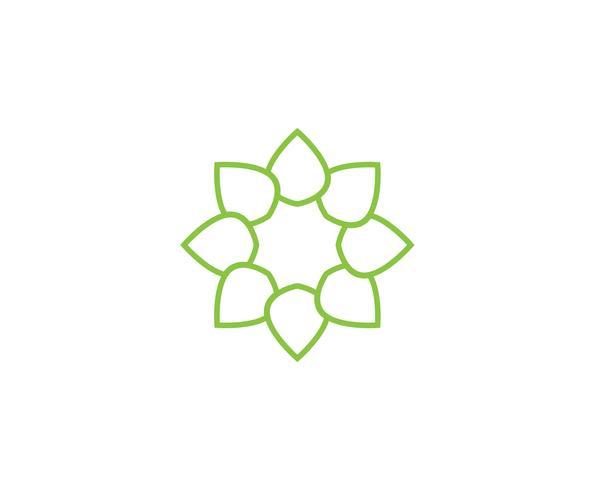 grönt lövlogo ekologi naturelement vektor