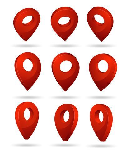 PIN-Symbol Zeigt den Standort der GPS-Karte an. vektor