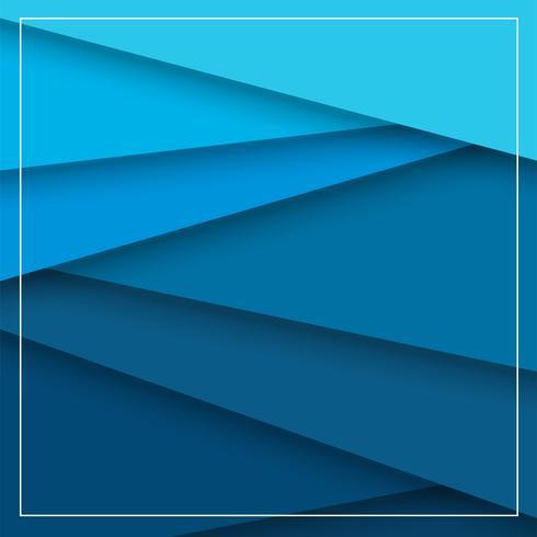 Abstrakter Hintergrund, der der Auftritt der Überschneidung des blauen Papiers und der schönen Schatten ist. vektor