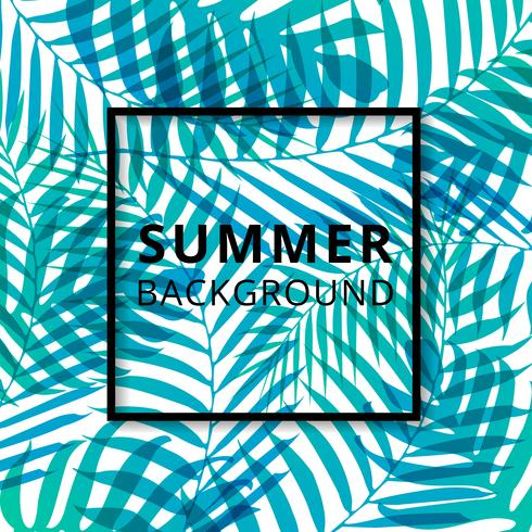 Palm Leave Muster Sommer Hintergrund. vektor