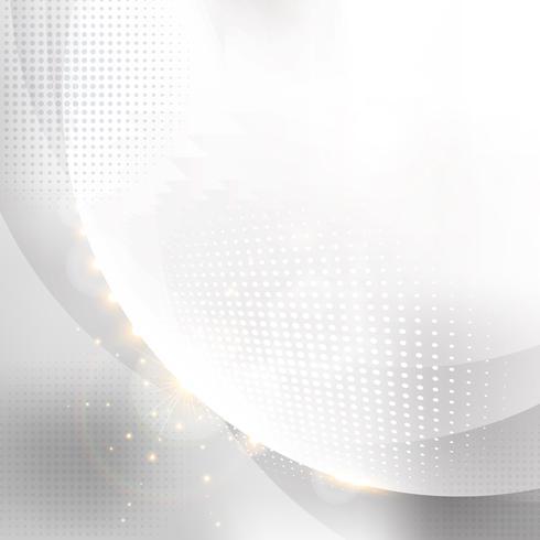 Elegante Kreise weiß mit abstraktem weißem Halbtonhintergrund. vektor