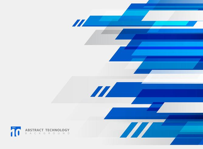 Abstrakte Technologie geometrische blaue Farbe glänzend Bewegungshintergrund. vektor