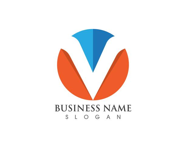 V-logotyp och symbolvektorer vektor