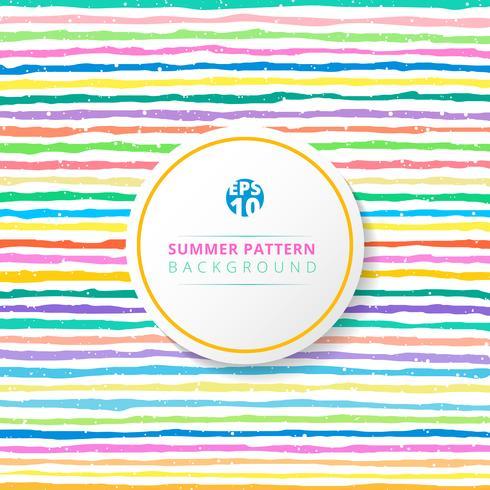 Gestreiftes Muster des Sommers bunt auf weißem Hintergrund. vektor