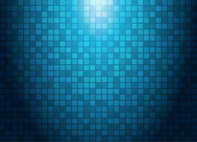 Abstraktes Technologiekonzept mit futuristischem Hintergrund des Musters der blauen Quadrate des Lichteffektes. vektor