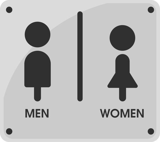 Män och kvinnor Toalettteckenikon teman Det ser enkelt och modernt ut. Illustration Vektor EPS10.