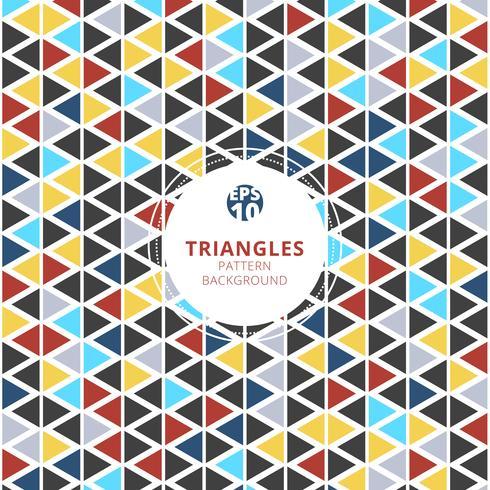 Färgglada trianglar mönster på vit bakgrund. vektor