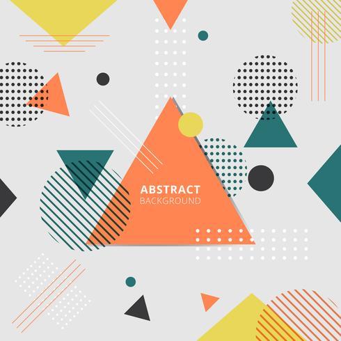 Abstrakter geometrischer bunter Arthintergrund. vektor