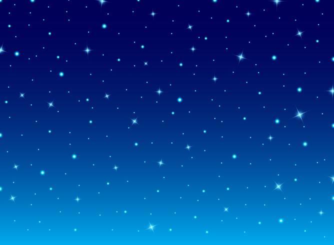 Abstrakter Nachtblauer Himmel mit Sternkosmoshintergrund. vektor