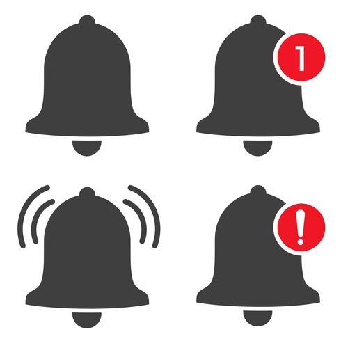 Vector notification icon när inkommande meddelanden skickar ett ljud och visar en varning.