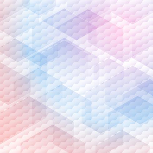 Abstraktes buntes Hexagonmuster auf weißem Hintergrund. vektor