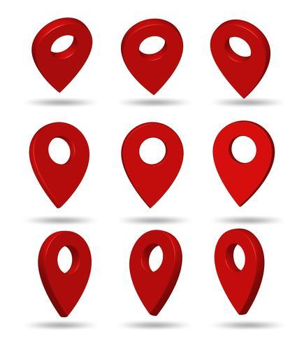 Pin-symbol Indikerar platsen för GPS-kartan. vektor