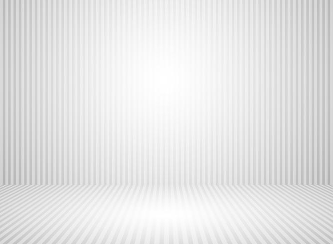 Abstrakt vit och grått vägg rum bakgrund med utrymme plattform bakgrundsgrå linje. vektor