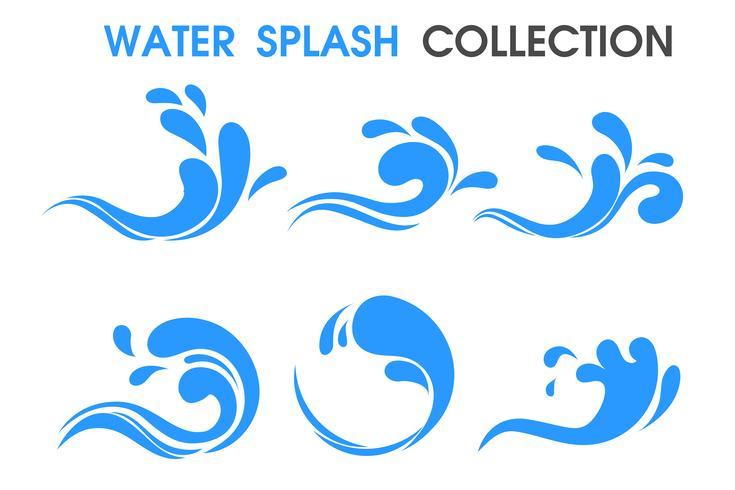 Splash ikon Enkel tecknad stil. vektor