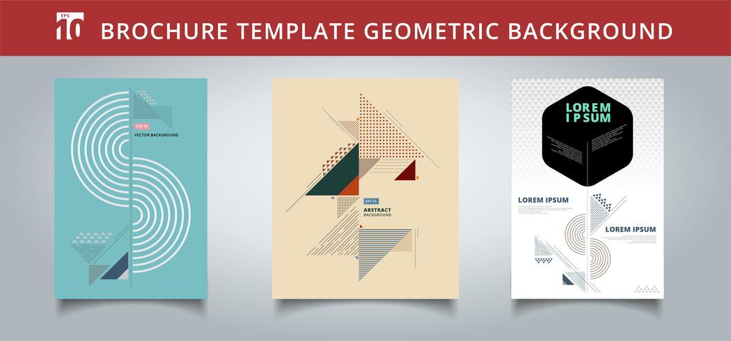 Set Vorlage geometrische Abdeckungen Design. Sie können für Druck, Anzeige, Broschüre, Flugblatt, Flyer, Plakat, Zeitschrift, Banner, Website verwenden. vektor