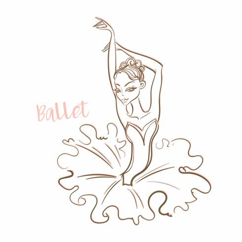 Mädchen Ballerina. Ballett. Logo. Tänzer. Vektor-illustration vektor