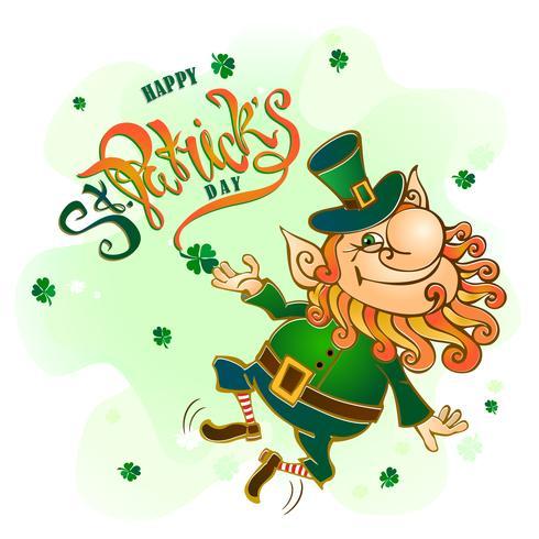 St Patrick's day.Lettering. Holiday kort. Vektor illustration.