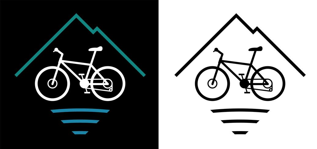 Mountainbike-Logo-Vektor-Illustration vektor