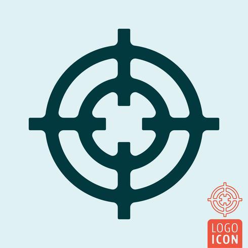 Fadenkreuzsymbol isoliert vektor