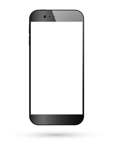 Svart smartphone isolerad vektor
