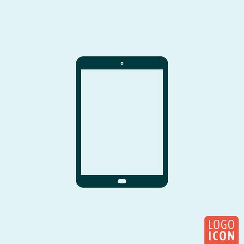 Tablet ikon minimal design vektor