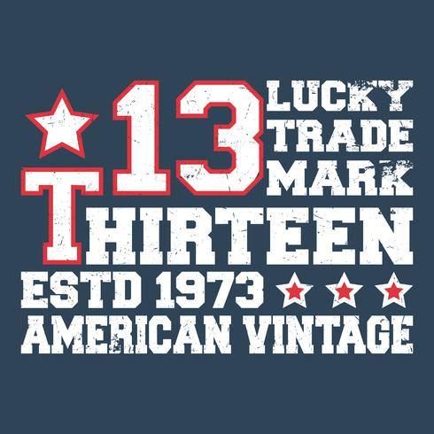 Dreizehn Vintage Briefmarke vektor