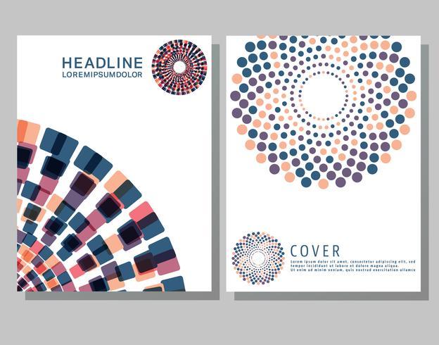 Cover Broschüren Vorlage vektor