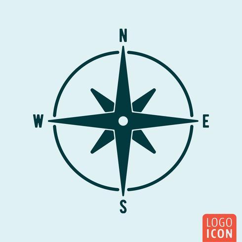 Kompass-Symbol isoliert vektor