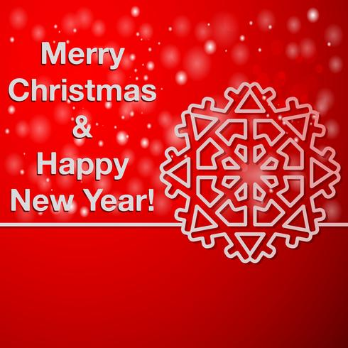 Gott nytt år och gott julkort vektor