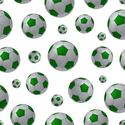 Fußball Ball nahtlose Hintergrund vektor