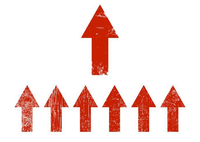 Rote Pfeile gesetzt vektor