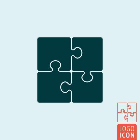 Puzzle-Symbol isoliert vektor