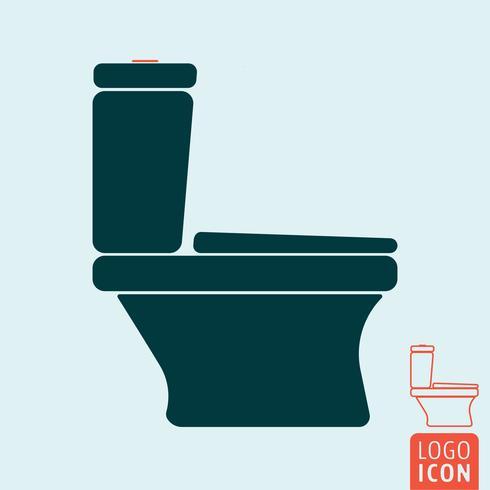 Toilettenschüssel-Symbol isoliert vektor