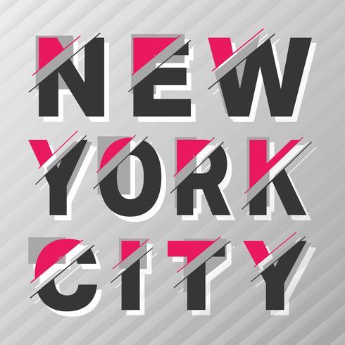 New York vintageaffisch vektor