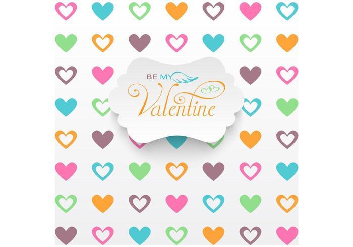 Herz gefüllter Valentinstag-Vektor-Hintergrund vektor
