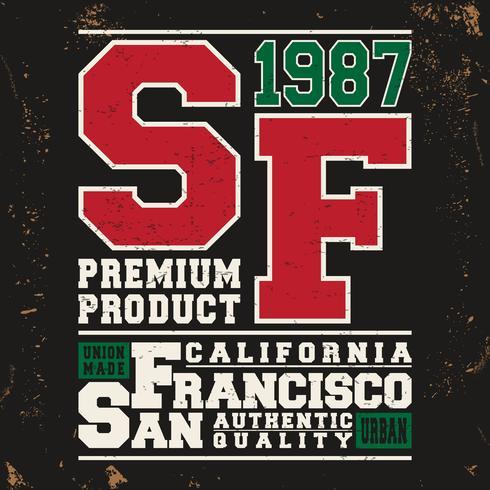 San Francisco Vintage Briefmarke vektor